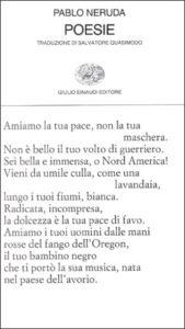 Copertina del libro Poesie di Pablo Neruda