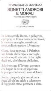 Copertina del libro Sonetti amorosi e morali di Francisco de Quevedo