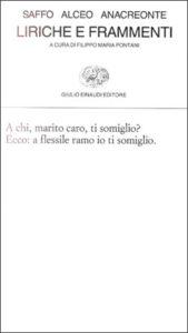 Copertina del libro Liriche e frammenti di Saffo, Alceo, Anacreonte