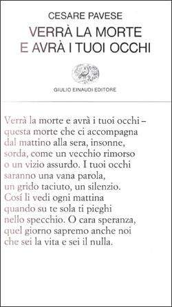 Copertina del libro Verrà la morte e avrà i tuoi occhi di Cesare Pavese