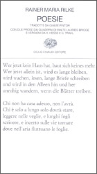 Copertina del libro Poesie di Rainer Maria Rilke