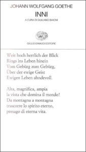 Copertina del libro Inni di Johann Wolfgang Goethe