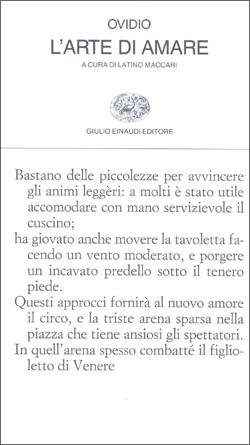 Copertina del libro L'arte d'amare di Publio Ovidio Nasone