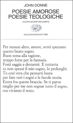 Copertina del libro Poesie amorose. Poesie teologiche di John Donne
