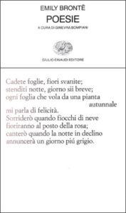 Copertina del libro Poesie di Emily Brontë