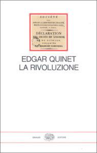 Copertina del libro La Rivoluzione di Edgar Quinet