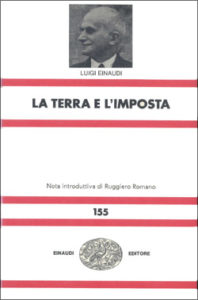 Copertina del libro La terra e l'imposta di Luigi Einaudi