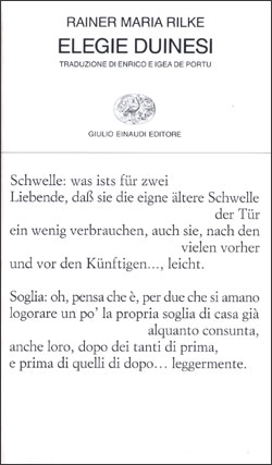 Copertina del libro Elegie duinesi di Rainer Maria Rilke