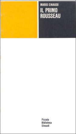 Copertina del libro Il primo Rousseau di Mario Einaudi