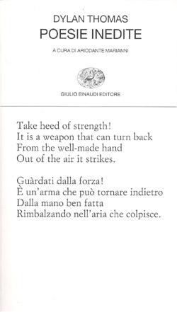 Copertina del libro Poesie inedite di Dylan Thomas