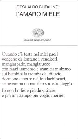 Copertina del libro L'amaro miele di Gesualdo Bufalino