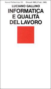 Copertina del libro Informatica e qualità del lavoro di Luciano Gallino