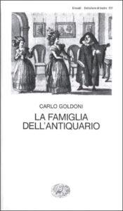 Copertina del libro La famiglia dell'antiquario di Carlo Goldoni