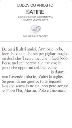 Copertina del libro Satire di Ludovico Ariosto