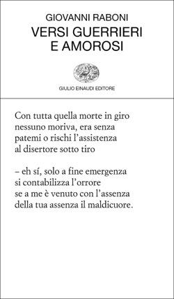 Copertina del libro Versi guerrieri e amorosi di Giovanni Raboni