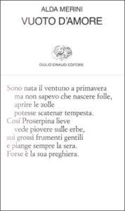 Copertina del libro Vuoto d'amore di Alda Merini