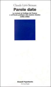 Copertina del libro Parole date di Claude Lévi-Strauss
