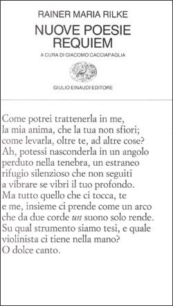 Copertina del libro Nuove poesie. Requiem di Rainer Maria Rilke