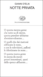 Copertina del libro Notte privata di Gianni D'Elia