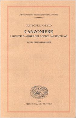 Copertina del libro Canzoniere di Guittone d'Arezzo