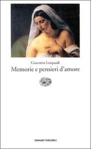 Copertina del libro Memorie e pensieri d'amore di Giacomo Leopardi