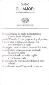 Copertina del libro Gli amori di Publio Ovidio Nasone