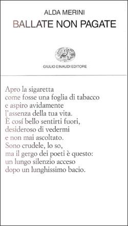 Copertina del libro Ballate non pagate di Alda Merini