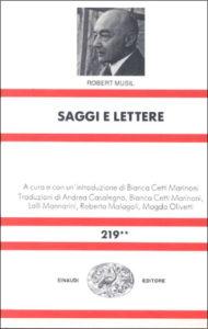 Copertina del libro Saggi e lettere di Robert Musil