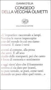 Copertina del libro Congedo della vecchia Olivetti di Gianni D'Elia