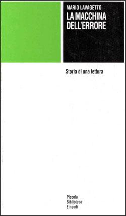 Copertina del libro La macchina dell'errore di Mario Lavagetto