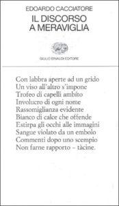 Copertina del libro Il discorso a meraviglia di Edoardo Cacciatore