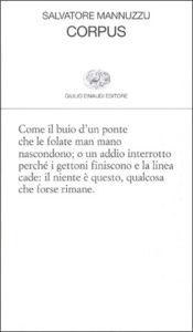 Copertina del libro Corpus di Salvatore Mannuzzu