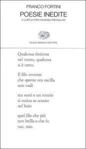 Copertina del libro Poesie inedite di Franco Fortini