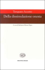 Copertina del libro Della dissimulazione onesta di Torquato Accetto