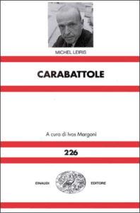 Copertina del libro Carabattole di Michel Leiris