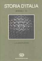 Copertina del libro Storia d'Italia. Annali 13. L'alimentazione di VV.