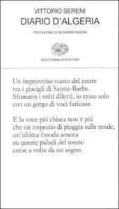 Copertina del libro Diario d'Algeria di Vittorio Sereni