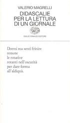 Copertina del libro Didascalie per la lettura di un giornale di Valerio Magrelli