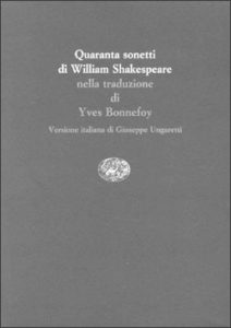 Copertina del libro Quaranta sonetti di William Shakespeare