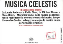 Copertina del libro Musica coelestis di Carlo Boccadoro