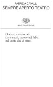 Copertina del libro Sempre aperto teatro di Patrizia Cavalli