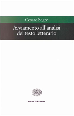 Copertina del libro Avviamento all'analisi del testo letterario di Cesare Segre