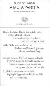 Copertina del libro A metà partita di Durs Grünbein