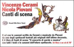 Copertina del libro Canti di scena di Vincenzo Cerami
