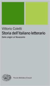 Copertina del libro Storia dell'italiano letterario di Vittorio Coletti
