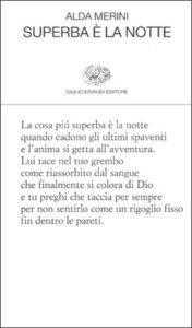 Copertina del libro Superba è la notte di Alda Merini
