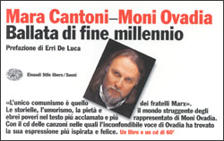 Copertina del libro Ballata di fine millennio di Moni Ovadia, Mara Cantoni, VV.