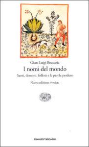 Copertina del libro I nomi del mondo di Gian Luigi Beccaria