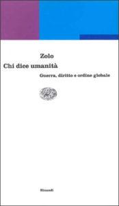 Copertina del libro Chi dice umanità di Danilo Zolo