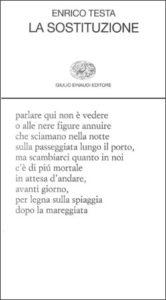 Copertina del libro La sostituzione di Enrico Testa